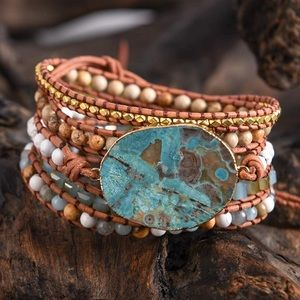 Get Grounded Wrap Bracelet w/ Protective Crystals